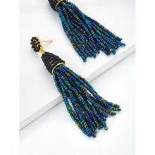 Beaded Tassel Charm Drop Earrings - Fashion Accessories