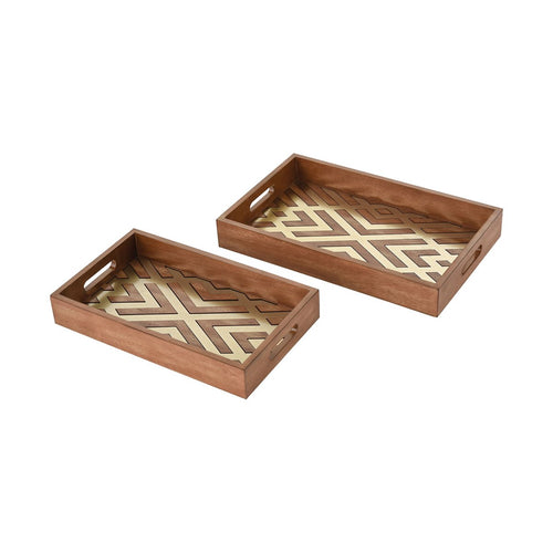 Cherry Gold Decorative Trays (set of 2) - Home Decor