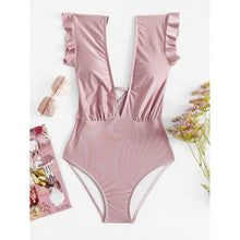 Deep-V Ruffle Swimsuit - Women - Apparel - Swimwear - One Pieces