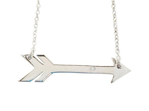 Sideways Arrow Necklace - Jewelry & Watches