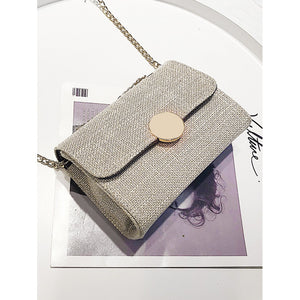 Metal Lock Chain Bag - Fashion Accessories