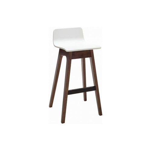 Ava Low Back Bar Stool - Walnut & White - Home - Furniture
