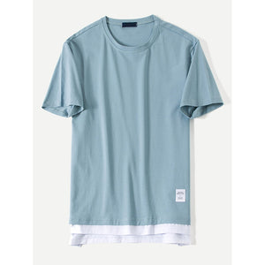 Men Contrast Hem Tee - Men - Apparel - Shirts - Knits