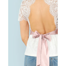Open Back Eyelash Lace Overlay Top - Men - Apparel - Shirts - Blouses
