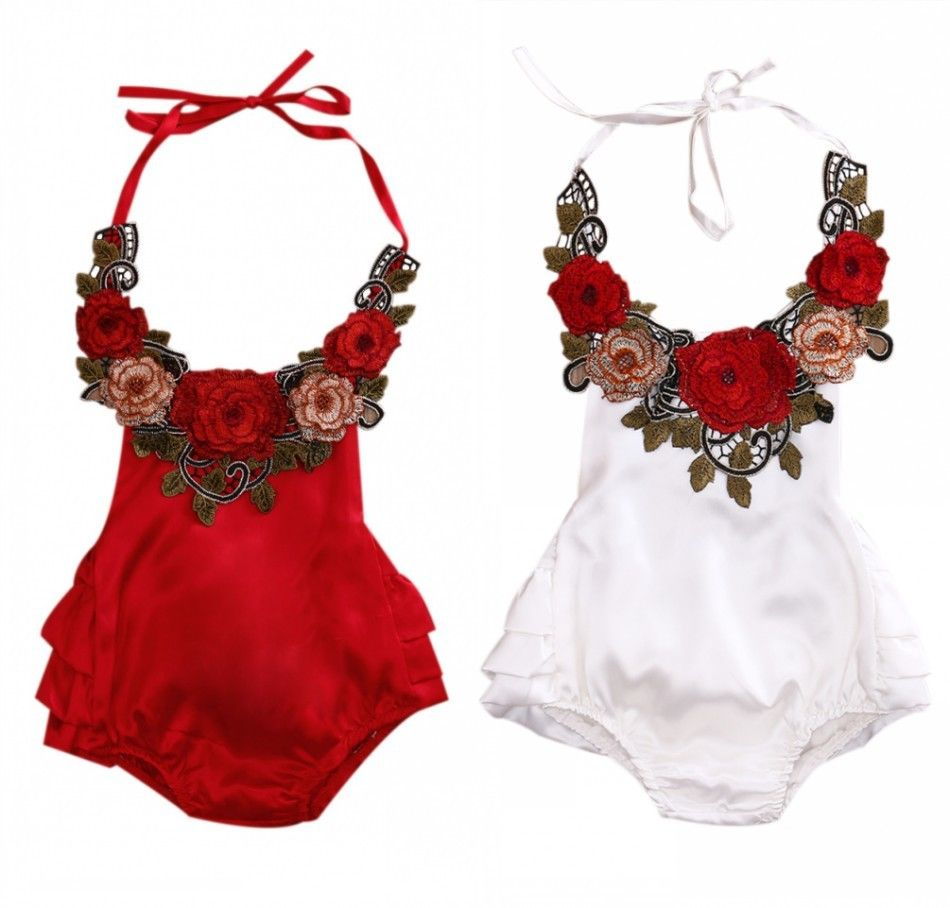 Baby Girl Floral Swimsuit - Rompers