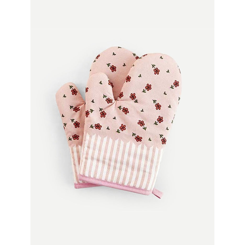 Flower Print Oven Glove 1pc - Houseware