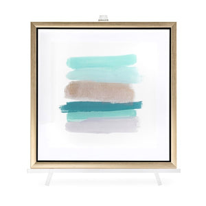 Lined Framed Wall Art with Easel - Home Decor