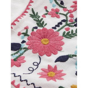 Floral Embroidered Top - Women - Apparel - Shirts - Blouses