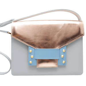 Metallic Shoulder Handbag Pumice Sky - Women - Bags - Shoulder Bags