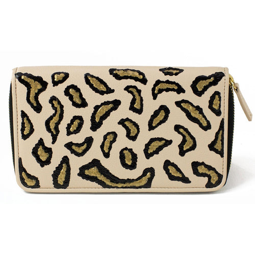 Nude Animal Print Clutch Wallet - Women - Bags - Clutches & Evening