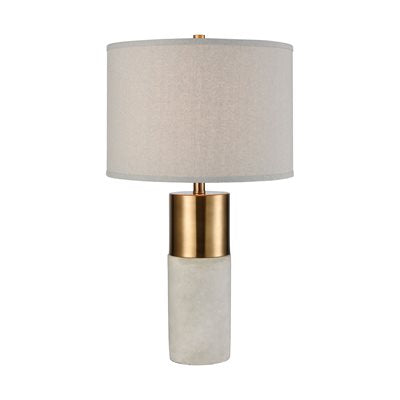 Gold and Concrete Table Lamp - Lighting