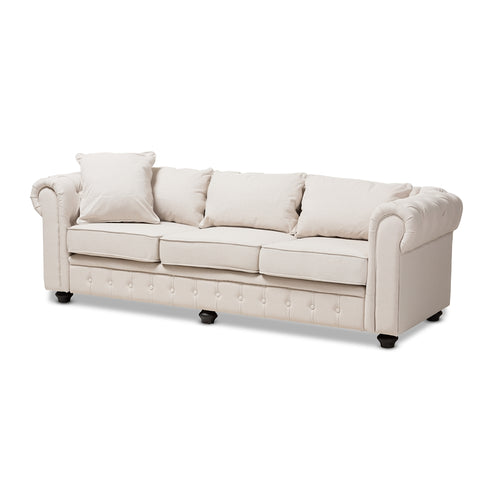 Chesterfield Tufted Linen Sofa - Home - Furniture