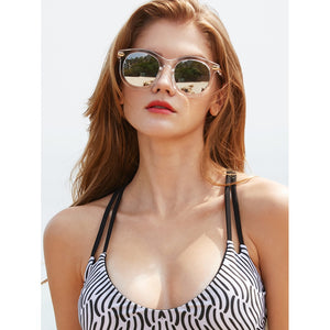 Clear Frame Mirror Lens Sunglasses - Fashion Accessories