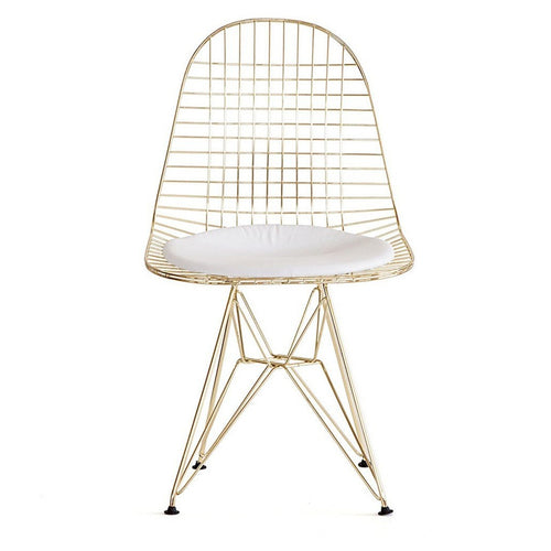 DKR Eiffel Gold Wire Chair - Home - Furniture