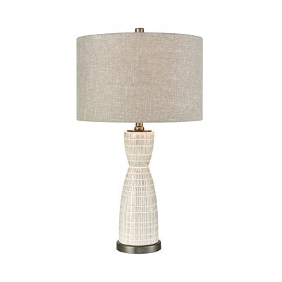 Light Grey Ceramic Table Lamp - Lighting