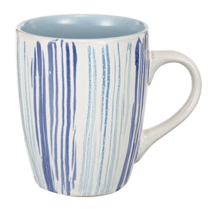 Blue Striped Coffee Mug - Home - Homeware