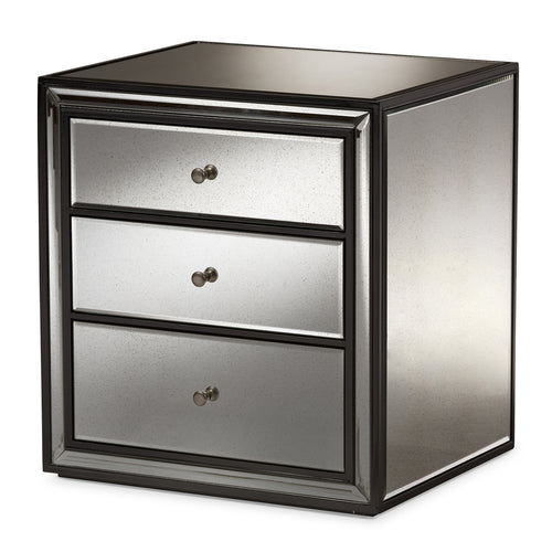 Set of 2 Art Deco Mirrored Nightstands - Home - Furniture