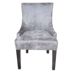 Grey Microfiber Dining Chair - Furniture