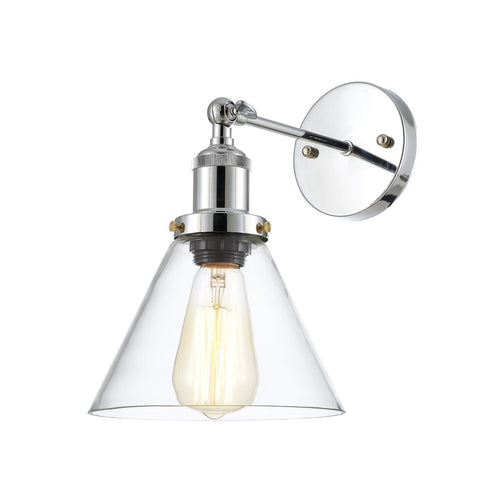 Edison Vintage Light Sconce in Clear/Antique Brass - Home - Homeware