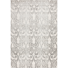 Geometric Pattern Charcoal Gray Area Rug - Area Rugs