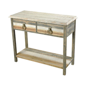 Aged Grey Washed Accent Table - Furniture
