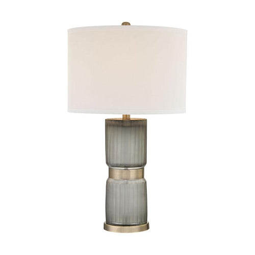 Antique Brass and Grey Table Lamp - Lighting