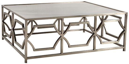 Antique Nickel Coffee Table - Furniture