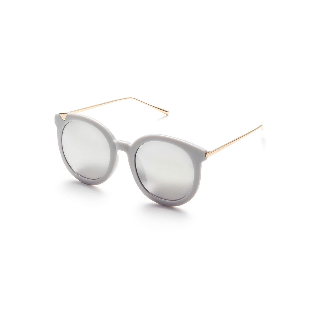 Grey Frame Metal Arm Clear Lens Sunglasses - Fashion Accessories