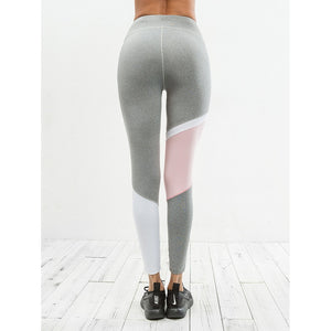 Elastic Waist Color Block Leggings - Clothes, Leggings & Tights