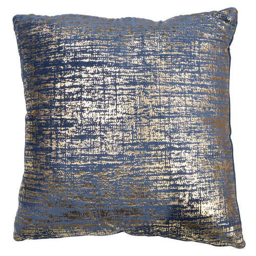 Blue and Gold Velvet Decorative Pillow - Decorative Pillows