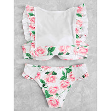 Flower Ruffle Bikini Set - Clothes, Outerwear