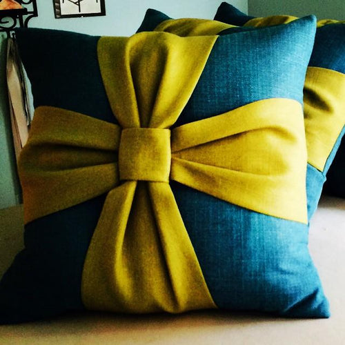 Custom Bow Patterned Decorative Pillow - Decorative Pillows