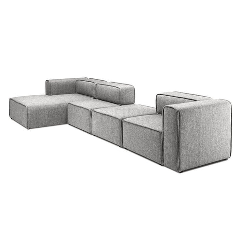 L-Shaped 3 Seater Left Sectional Chaise Sofa - Home - Furniture