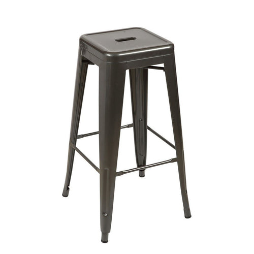 Tolix Style Counter Stool - Gunmetal - Home - Furniture