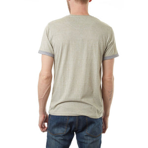 Contrast Pocket Curved Hem Tee - Men - Apparel - Shirts - T-Shirts