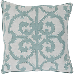 Denim and Gray Decorative Pillow - Decorative Pillows