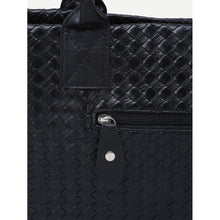 Black Woven Tote Bag - Bags & Wallets