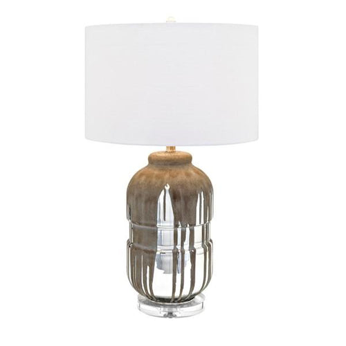 Distressed Glass Table Lamp - Lighting