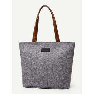 Contrast Handle Tote Bag - Women - Bags - Totes