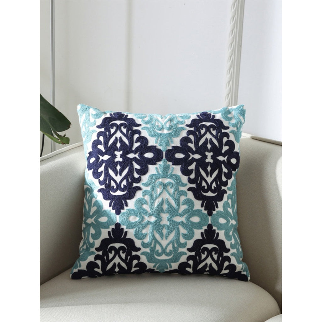 Flower & Embroidery Print Pillowcase Cover - Decorative Pillows