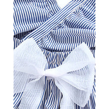 Kids Surplice Tie Waist Pinstriped Dress - Kids - Girls - Apparel