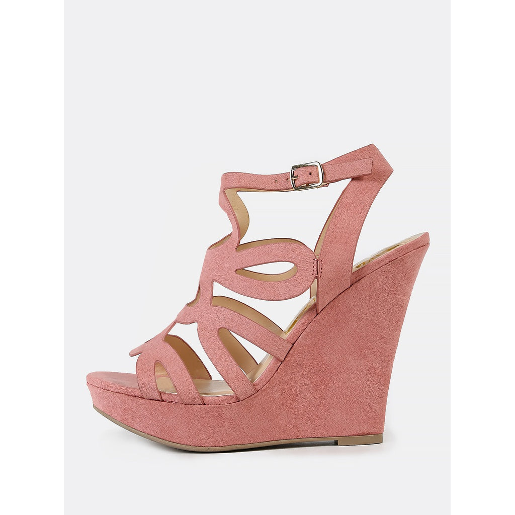 Petal Cutout Platform Wedge Sandal - Shoes, Sandals