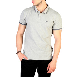 Emporio Armani Grey Polo - Clothing - Polo