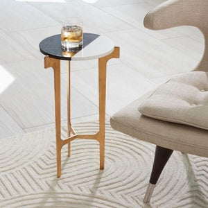 Gold Leaf Accent Table - Furniture