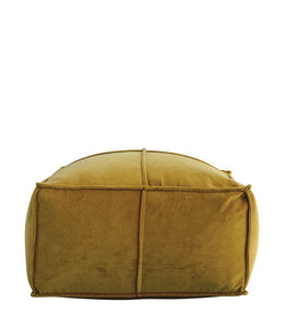 Gold Velvet Poof - Home Decor