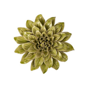 Green Ceramic Wall Flower - Home Decor