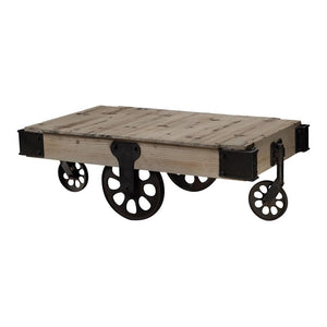 Industrial Cart Coffee Table - Furniture
