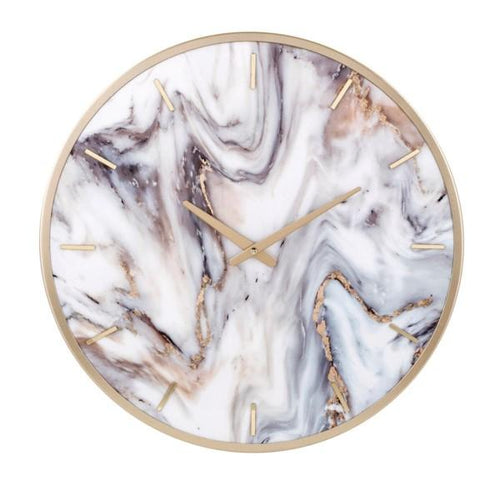 Marble Textured Wall Clock - Home Decor