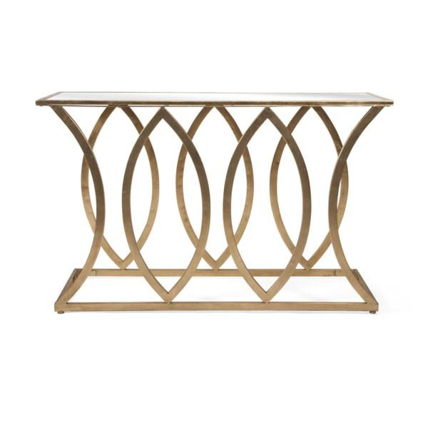 Mirror Top Console Table - Furniture
