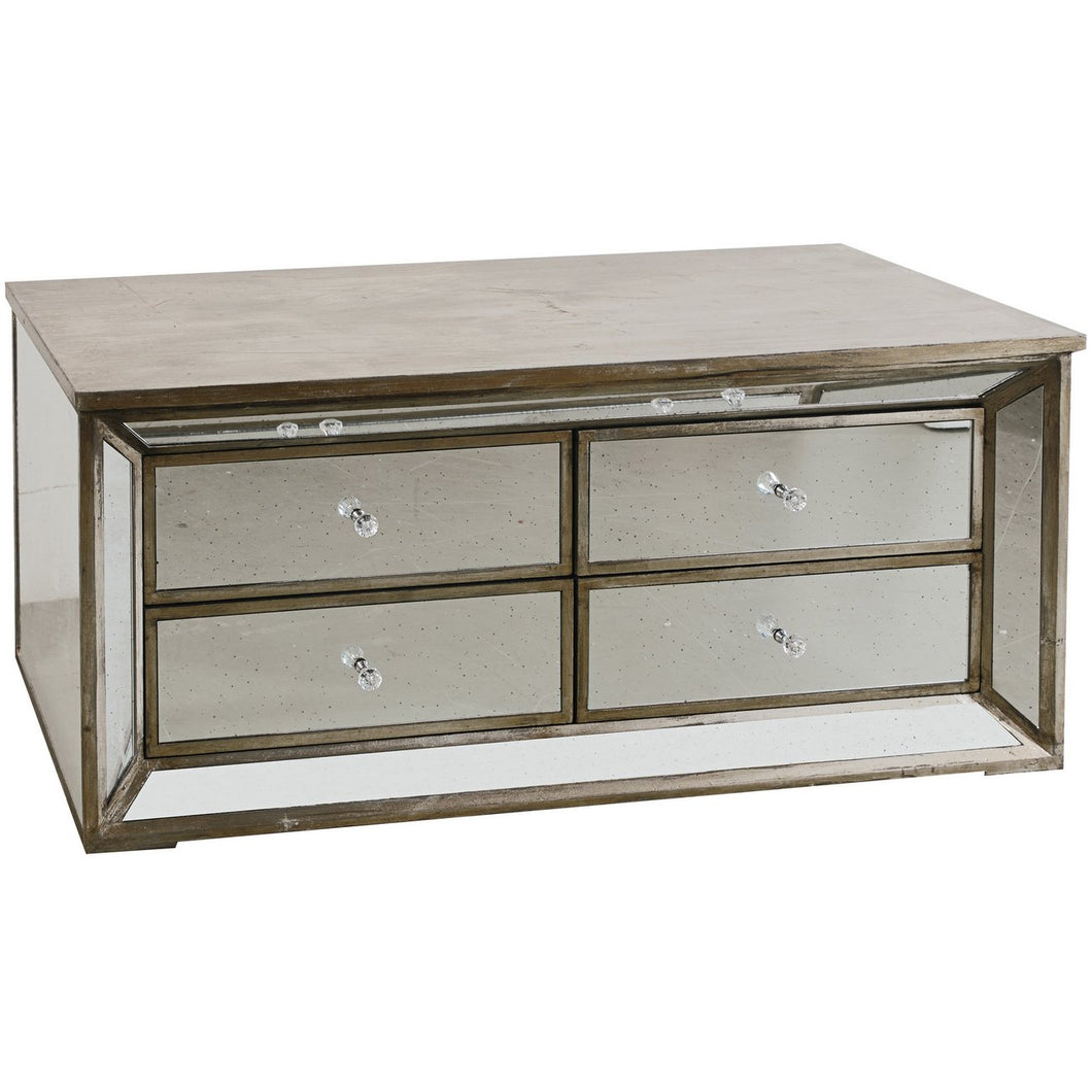 Mirrored Four Drawer Cabinet - Furniture
